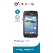 Folie De Protectie Transparenta SAMSUNG Galaxy Core Duo Alb Cellularline