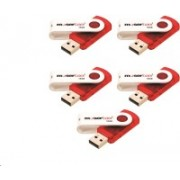 Moserbaer Pack - 5 Swivel 16 GB Pen Drive(Red)