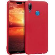 Protectie spate Senno Pure Flex Slim Mate TPU pentru Huawei P20 Lite (Rosu)