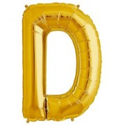 De-Ultimate 16 Inch Alphabet (D) Soild (Golden) Color 3D Foil Balloons For Birthday And Anniversary Parties Decoration