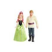 Boneco Frozen Anna/Kristoff 2 Bonecos Mattel
