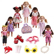 American Girl Doll Clothes Accessories for 14inch 14.5 inch Wellie Wishers Willa Dolls by BBTOYS