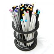 5 db Swarovski köves ceruza - fehér