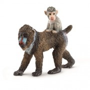Schleich Mandrill Female With Baby