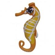 Geen Opblaasbare oranje speelgoed zeepaard 51 cm