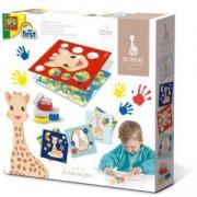 Детски комплект Рисувай с пръсти жирафчето Софи SES, 0814493