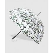 Vogue Paraguas Transparente Con Estampado En Verde