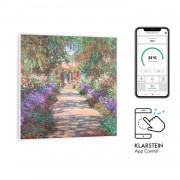 Klarstein Wonderwall Air Art Smart, инфрачервен нагревател, 60 х 60 см, 350 W, апликация, градински път (HTR10-WdwlS350wGardn)