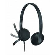 Fejhallgató, mikrofonnal, USB csatlakozás, LOGITECH H340 (LGFH340)