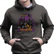 Cloud City 33959 Pest Control Bebop och Rocksteady Teenage Mutant Ninja Turtles Mäns Hooded Sweatshirt Träkol XX-Large