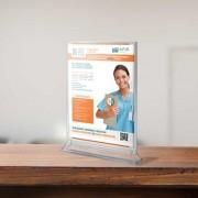 Edimeta Porte-visuel comptoir A5 (H 210 x L 148 mm) Premium