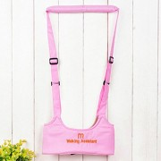 Cute Toddler Walk Toddler Safety Harness Assistant Walk Learning Walking Harnesses Leashes (Pink)