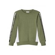 NAME IT Panelrandprydd Sweatshirt Man Grön