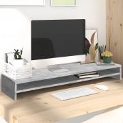 vidaXL Stojan na monitor betónovo-sivý 100x24x13 cm drevotrieska