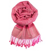 Venezia kašmírový šál - pašmína růžová