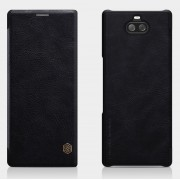 NILLKIN Qin Series Leather Card Holder Phone Case for Sony Xperia 10 - Black
