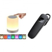 Touch lamp bluetooth speaker compatiable With all smart phones || Bluetooth speaker with SD card and USB slot Wireless Bluetooth Multimedia Speaker || Wireless Speaker and K1 bluetooth headset