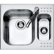 Chiuveta BARAZZA Select 1IS6060 58.5x50 cm cu 1 cuva mare si 1 cuva mica, Fabricatie Italia
