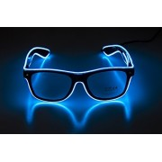 Glow Eye Glasses With Light Up Glasses El Wire Glowing Party Rave Glasses For Halloween,Party Favor (Blue)
