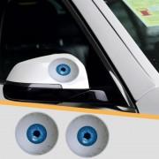 2 PC's auto Auto creatieve 3D Eye achteruitkijkspiegel Sticker(Blue)