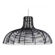 Lámpara de techo en bambú negro CUP - Miliboo