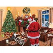 Santa Solves the Puzzle A 1000 Piece Jigsaw Puzzle by SunsOut