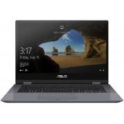 ASUS VivoBook Flip TP412UA-EC092T-BE Grijs Hybride (2-in-1) 35,6 cm (14'') 1920 x 1080 Pixels Touchscreen 2,3 GHz Zevende generatie Intel® Core™ i3 i3-7020U