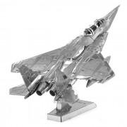 DIY 3D Puzzle modelo de aviones montados juguetes educativos - Plata