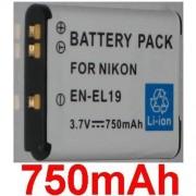 Batterie Pour NIKON EN-EL19 ENEL19, Coolpix S2500 S3100 S4100 **750mAh**