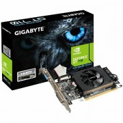 GIGABYTE Video Card GeForce GT 710 DDR3 2GB/64bit, 954MHz/1800MHz, PCI-E 2.0 x16, HDMI, DVI, VGA, Cooler, Low-profile, Retail GV-N710D3-2GL