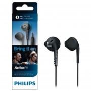 Audífonos Deportivos Philips SHQ1200TBK/27 3.5 mm Dinámicos 106 dB - Negro