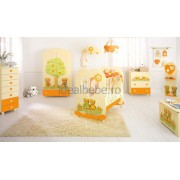 Baby Expert Italia - Dulap 7 sertare CUORE crem-orange