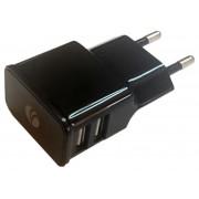 USB HOME CHARGER, VCOM, 2A, 2xUSB (DC528)