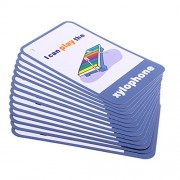 Phenovo Various Flash Cards Set - Educational Learning Picture & Word Card Flashcards - Musical Instruments, 13.5x9.2cm