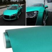 1.52 * 0 5 m waterdicht PVC draad tekening geborsteld chroom Vinyl Wrap Sticker auto ijs Film Stickers auto Styling mat geborsteld auto Wrap Vinyl Film (Tiffany blauw)