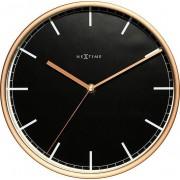 NeXtime Zegar ścienny Company 30 cm czarny