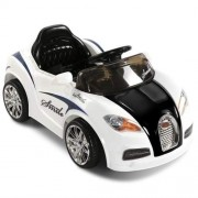 Kids Ride on Bugati Car with Remote Control White