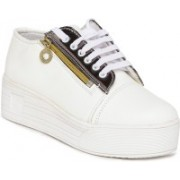 1 WALK 1 WALK MAPPLE COLLECTION ORIGINAL COMFORTABLE STYLISH WOMEN SHOES /SNEAKERS/COLLEGE WEAR/2018 LATEST COLLECTION/PARTY WEAR/CASUAL DRESSING WEAR/WEEDING WEAR-Grey Casuals For Women(White)