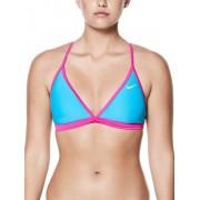 NIKE Damen Bikinioberteil Solid Adjustable T-Back blau S