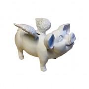 Stone Lite Spaarpot varken met vleugels 25 cm