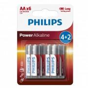 Philips PowerAlkaline LR6-P6BP/10 AA ceruza elem LR6 6db/csomag
