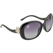 Clark n' Palmer Grey Polarized Oval Women Sunglasses