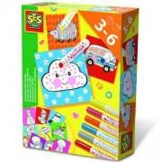 Детски комплект за оцветяване с маркери SES, 080967