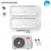 Ariston Dual Split Inverter Alys Plus 9000+12000 Btu Con Dual 55 Xd0b-O 9+12
