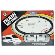 AKSHATA High Speed Train with Track Sign Boards Accessories Battery Operated Set for Kids