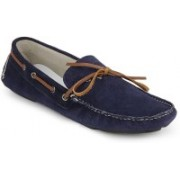 Knotty Derby Blue Croc Print Riddle Boat Shoes For Men(Blue)