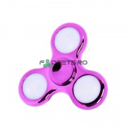 Fidget Spinner Led Metallic Pink