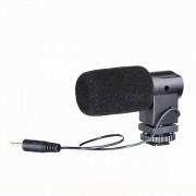 BOYA BY-V01 Microfono estereo externo para camara DSLR-Negro