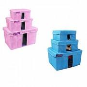 PrettyKrafts Storage Combo Pack of 6 /Organizer/Storage Box/Toys Storage Box/Books Storage Box