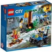 Конструктор ЛЕГО Сити - Бегълци в планината - LEGO City Police, 60171